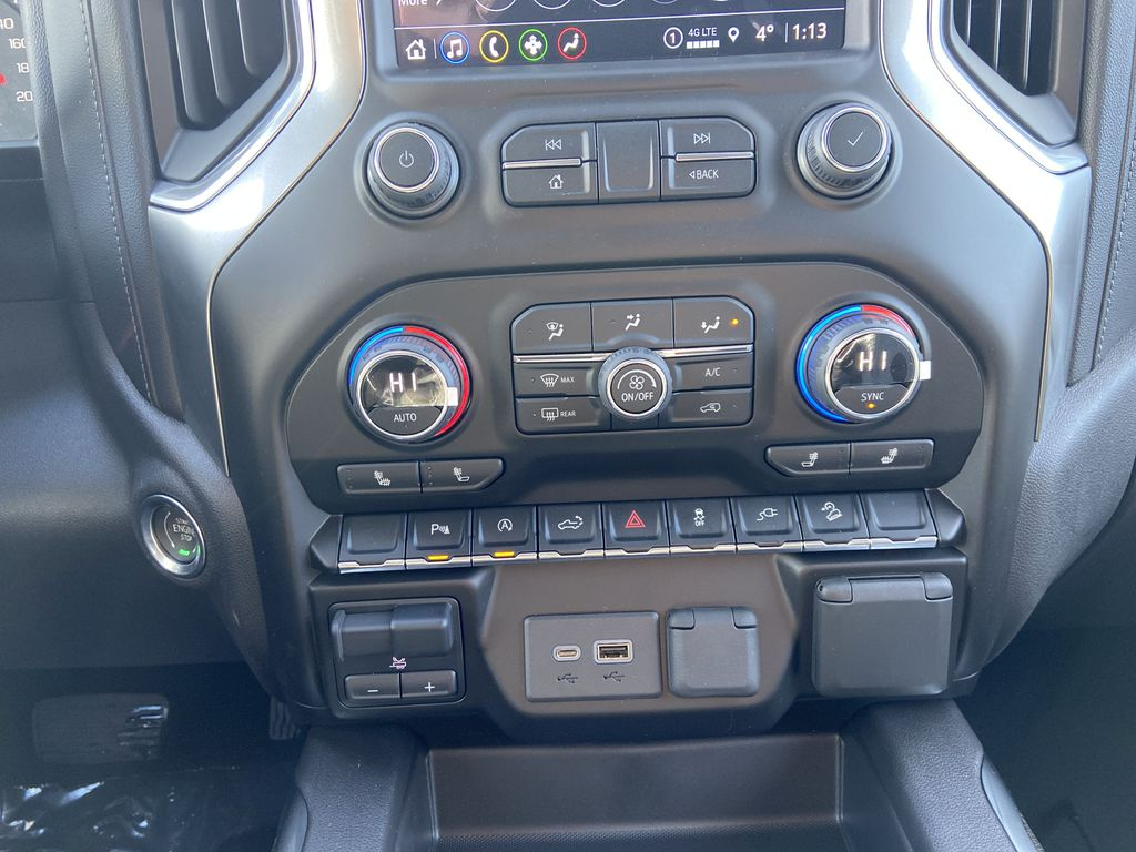 White[Summit White] 2021 Chevrolet Silverado 1500 LT Trail Boss Central Dash Options Photo in Calgary AB