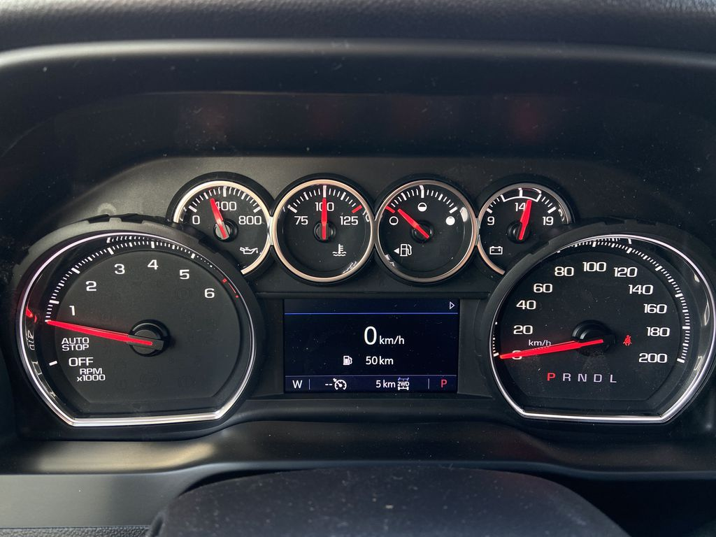White[Summit White] 2021 Chevrolet Silverado 1500 LT Trail Boss Odometer Photo in Calgary AB