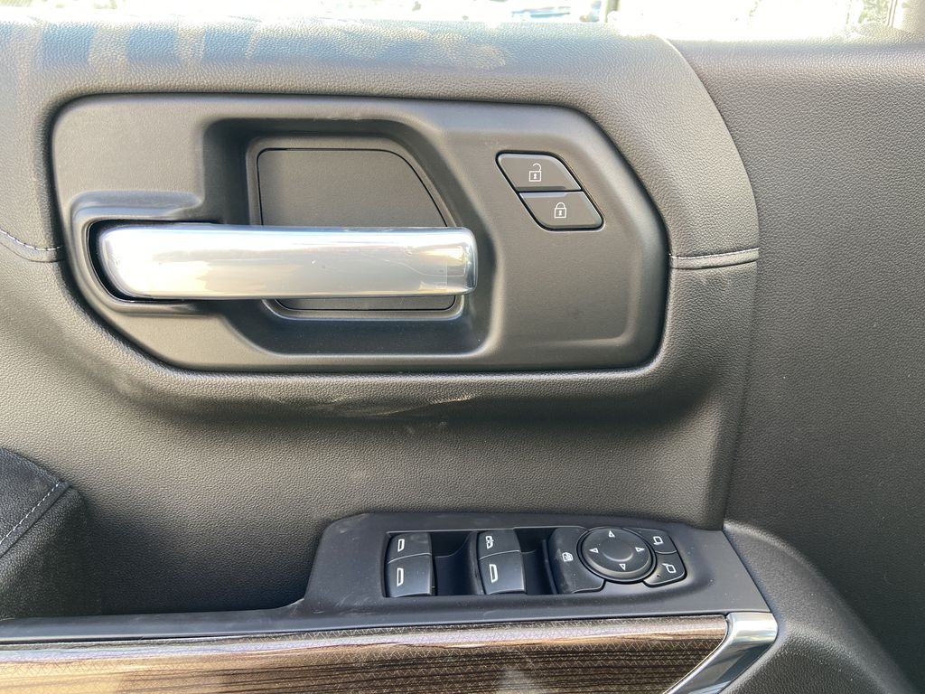 White[Summit White] 2021 Chevrolet Silverado 1500 LT Trail Boss  Driver's Side Door Controls Photo in Calgary AB