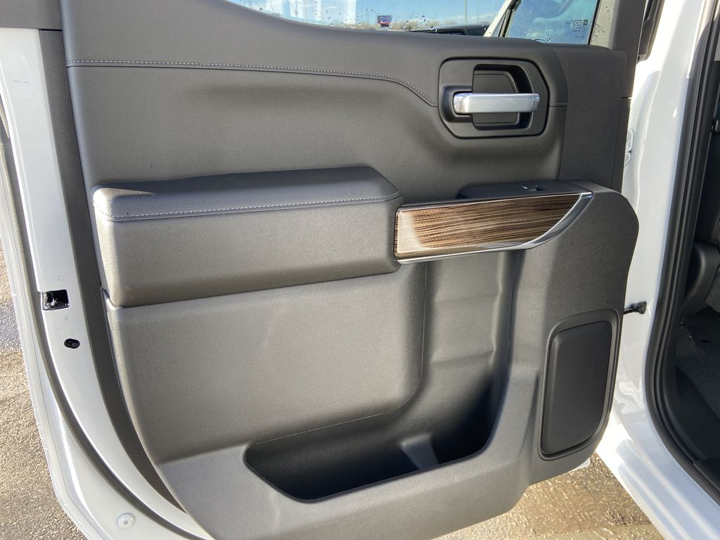 White[Summit White] 2021 Chevrolet Silverado 1500 LT Trail Boss Left Rear Interior Door Panel Photo in Calgary AB
