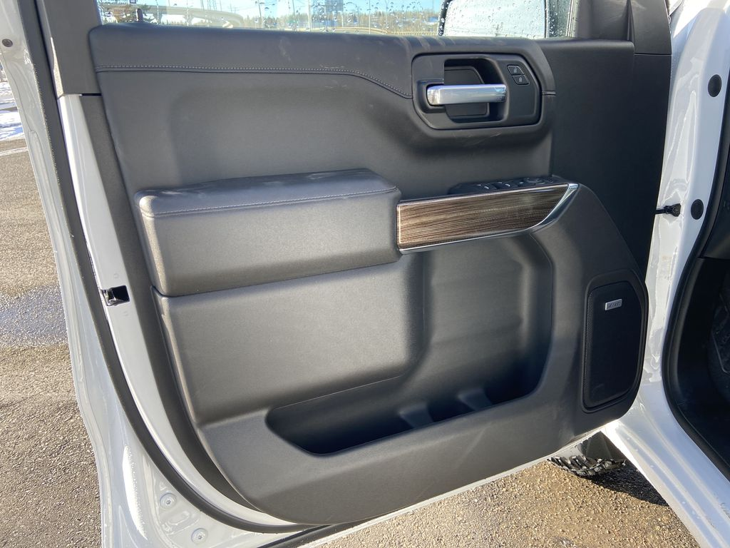 White[Summit White] 2021 Chevrolet Silverado 1500 LT Trail Boss Left Front Interior Door Panel Photo in Calgary AB