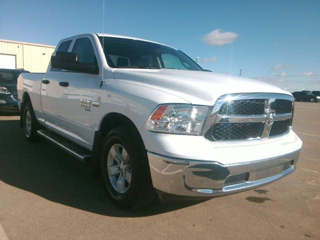 """White 2019 Ram 1500 Classic ST 4x4 Quad Cab 6'4"""" Box *Tow Package*Trailer Hitch*Bluetooth* Right Front Corner Photo in Brandon MB"""