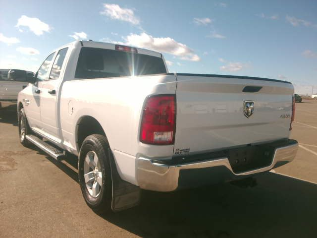 """White 2019 Ram 1500 Classic ST 4x4 Quad Cab 6'4"""" Box *Tow Package*Trailer Hitch*Bluetooth* Left Rear Corner Photo in Brandon MB"""