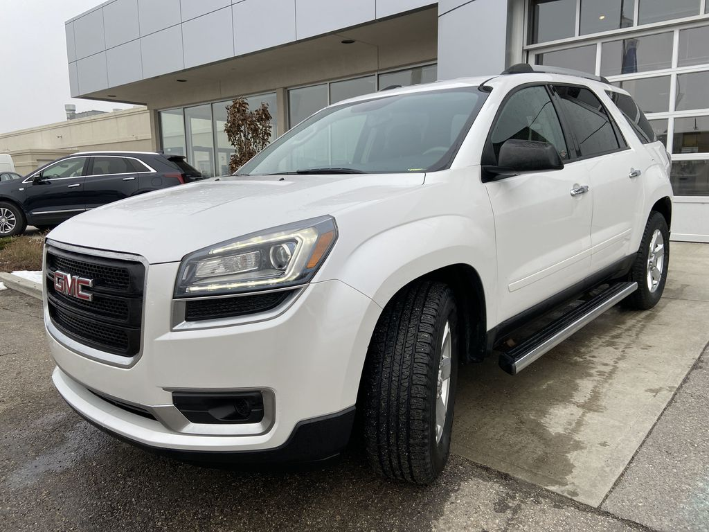 White[White Frost Tricoat] 2016 GMC Acadia SLE Left Front Head Light / Bumper and Grill in Calgary AB
