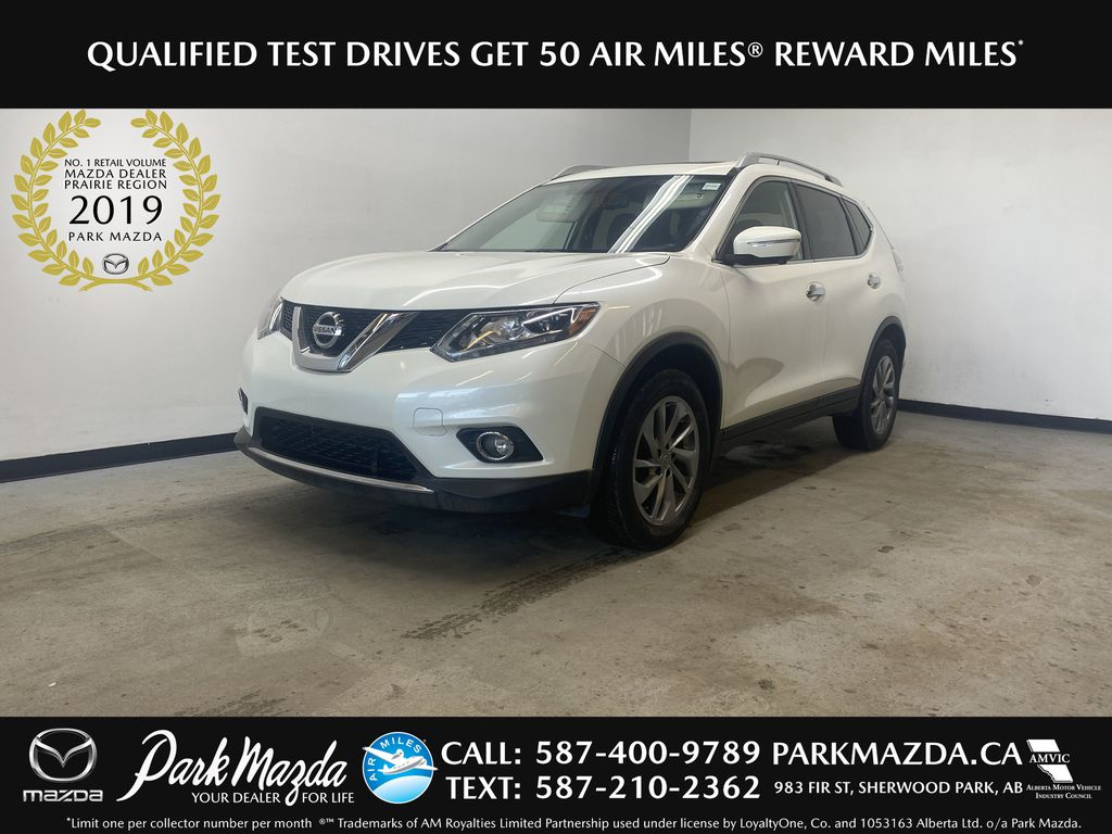 WHITE 2015 Nissan Rogue SL - Bluetooth, Backup Camera, Heated Front Seats
