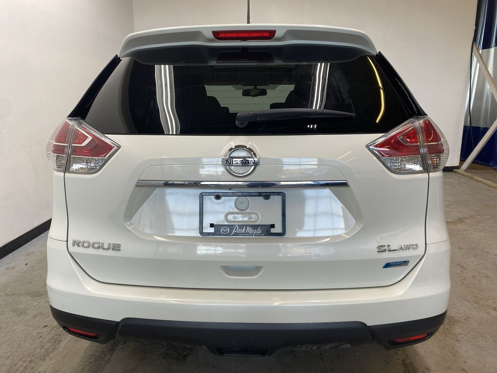 WHITE 2015 Nissan Rogue SL - Bluetooth, Backup Camera, Heated Front Seats Rear of Vehicle Photo in Edmonton AB