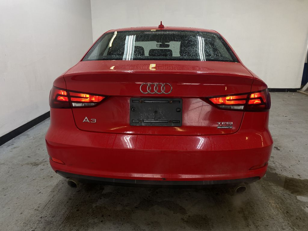 RED 2016 Audi A3 Quattro 2.0T Komfort - NAV, Bluetooth, Backup Camera, Heated Front Seats Rear of Vehicle Photo in Edmonton AB