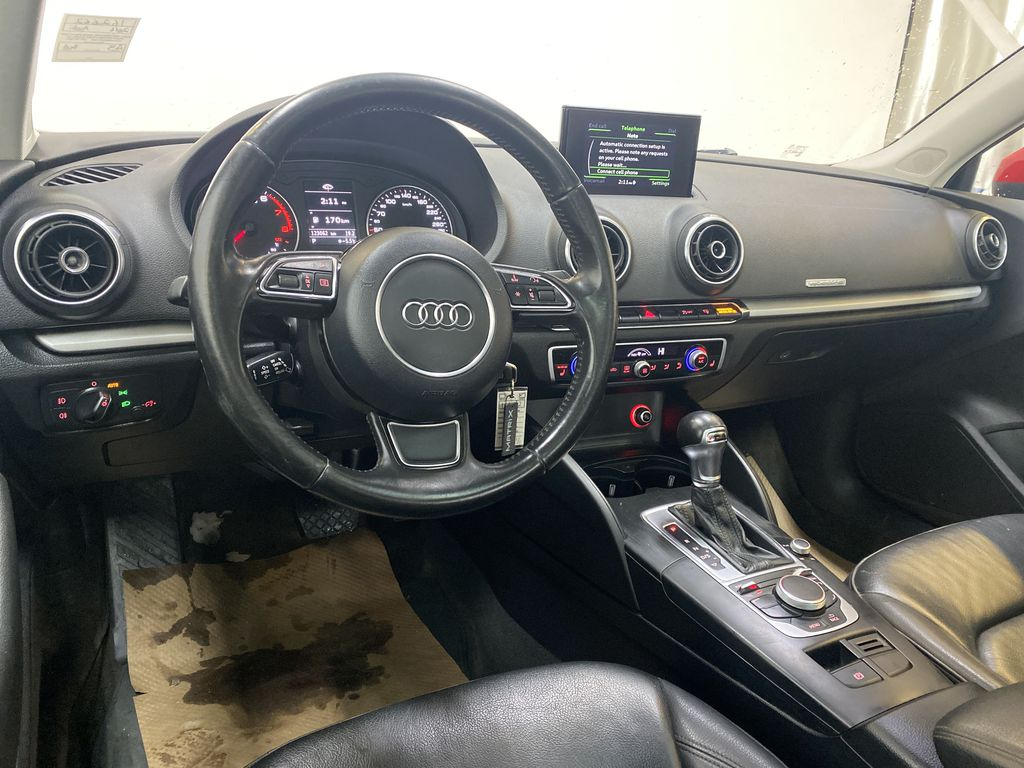 RED 2016 Audi A3 Quattro 2.0T Komfort - NAV, Bluetooth, Backup Camera, Heated Front Seats Steering Wheel and Dash Photo in Edmonton AB