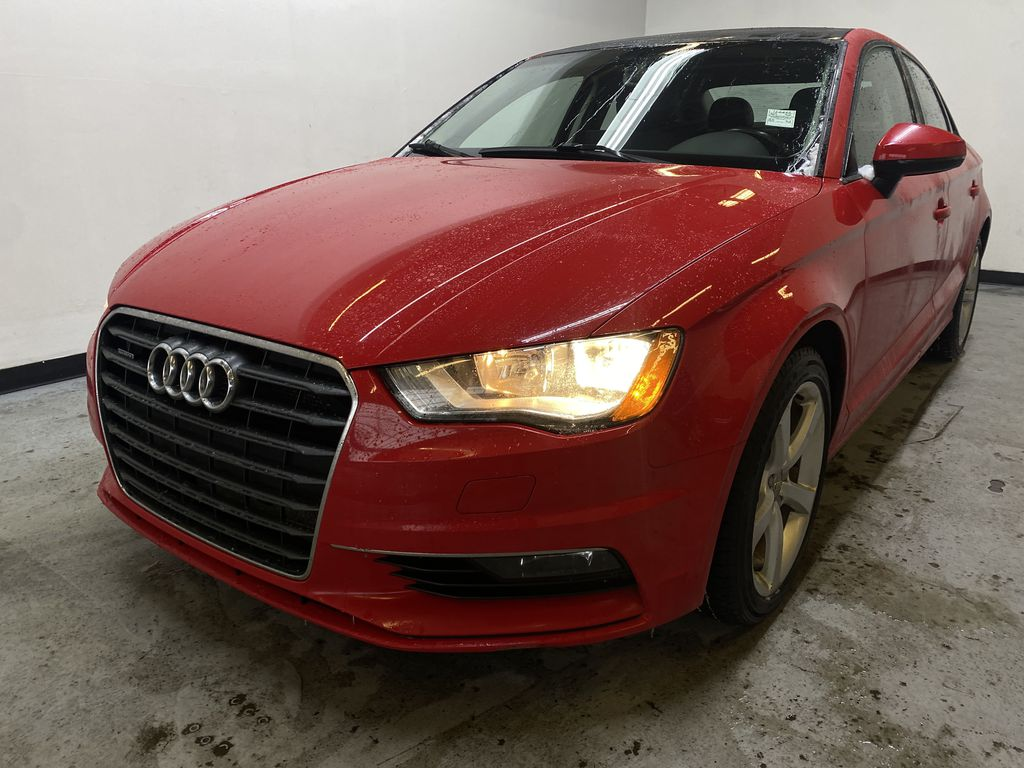 RED 2016 Audi A3 Quattro 2.0T Komfort - NAV, Bluetooth, Backup Camera, Heated Front Seats Left Front Head Light / Bumper and Grill in Edmonton AB