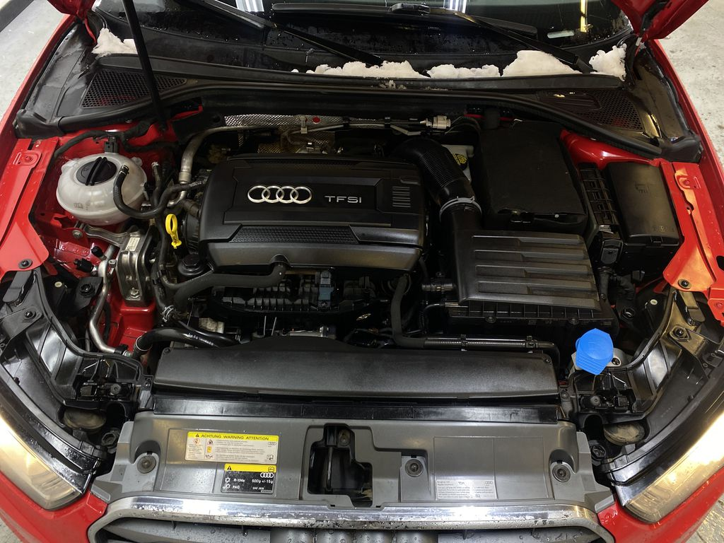 RED 2016 Audi A3 Quattro 2.0T Komfort - NAV, Bluetooth, Backup Camera, Heated Front Seats Engine Compartment Photo in Edmonton AB
