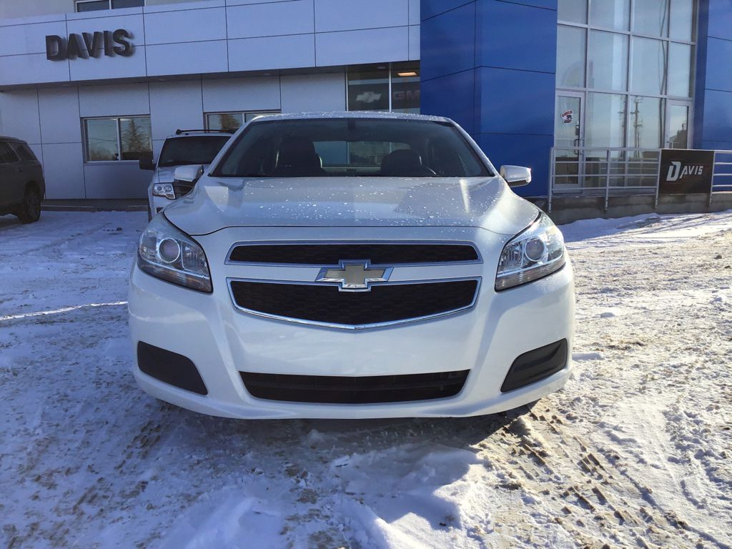 White 2013 Chevrolet Malibu Left Front Head Light / Bumper and Grill in Brooks AB