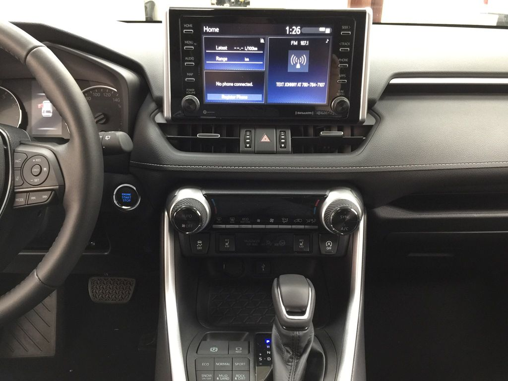 Silver[Silver Sky Metallic] 2021 Toyota RAV4 XLE Premium Central Dash Options Photo in Sherwood Park AB