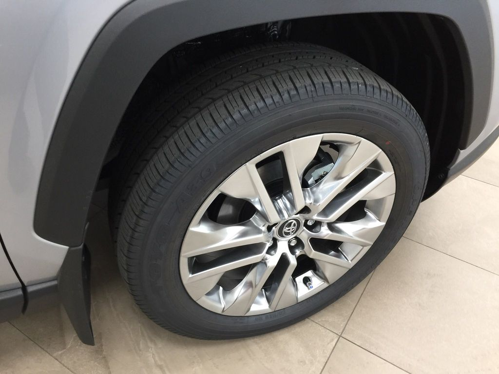 Silver[Silver Sky Metallic] 2021 Toyota RAV4 XLE Premium Right Front Rim and Tire Photo in Sherwood Park AB