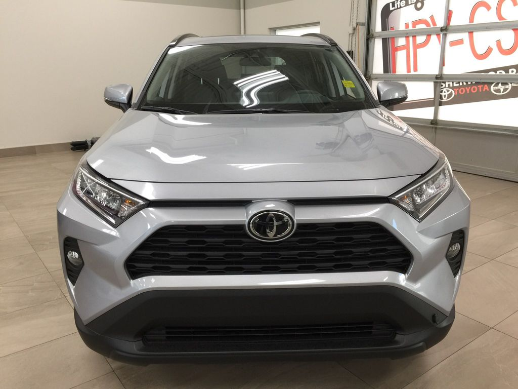 Silver[Silver Sky Metallic] 2021 Toyota RAV4 XLE Premium Front Vehicle Photo in Sherwood Park AB