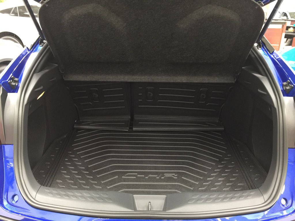 Blue[Blue Eclipse Metallic w/Black Roof] 2021 Toyota C-HR Limited Cargo Area/Rear Seats Photo in Sherwood Park AB