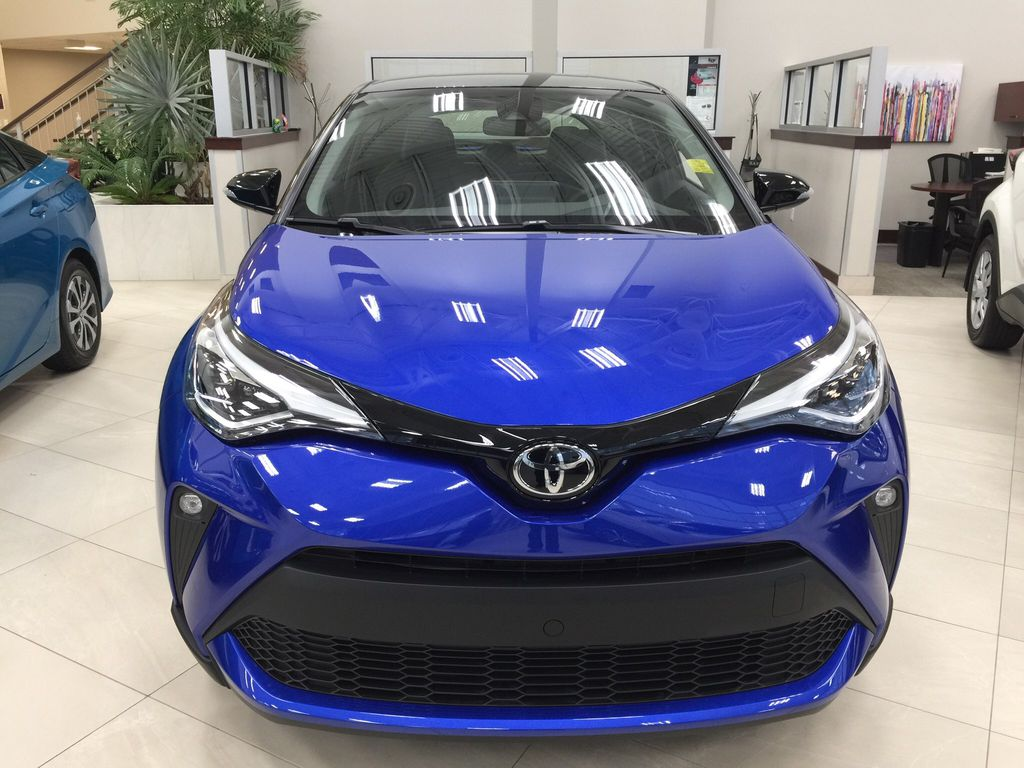 Blue[Blue Eclipse Metallic w/Black Roof] 2021 Toyota C-HR Limited Front Vehicle Photo in Sherwood Park AB