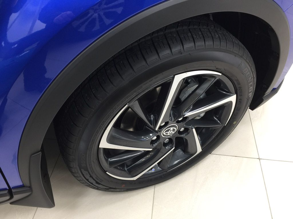 Blue[Blue Eclipse Metallic w/Black Roof] 2021 Toyota C-HR Limited Right Front Rim and Tire Photo in Sherwood Park AB