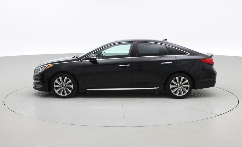 Black[Black Noir Pearl Metallic] 2015 Hyundai Sonata Sport Tech - Panoramic Roof, Navigation, Bluetooth Left Side Photo in Winnipeg MB