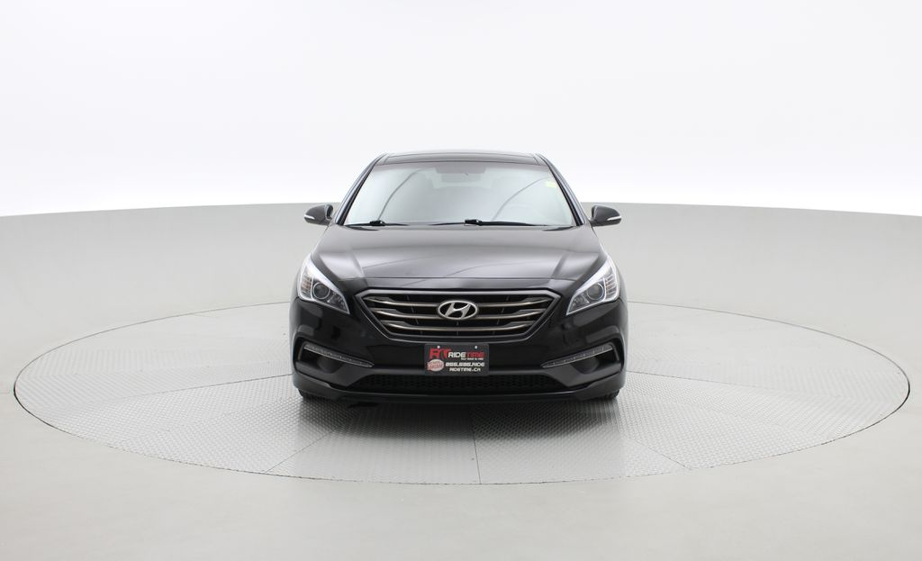 Black[Black Noir Pearl Metallic] 2015 Hyundai Sonata Sport Tech - Panoramic Roof, Navigation, Bluetooth Front Vehicle Photo in Winnipeg MB