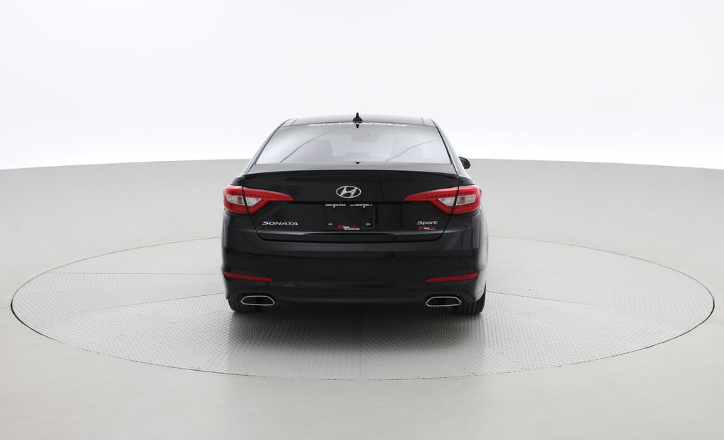 Black[Black Noir Pearl Metallic] 2015 Hyundai Sonata Sport Tech - Panoramic Roof, Navigation, Bluetooth Rear of Vehicle Photo in Winnipeg MB