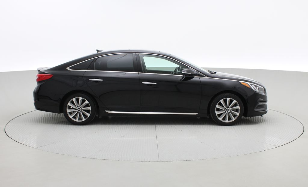 Black[Black Noir Pearl Metallic] 2015 Hyundai Sonata Sport Tech - Panoramic Roof, Navigation, Bluetooth Right Side Photo in Winnipeg MB