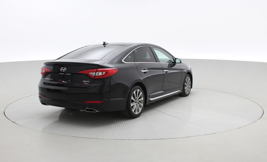 Black[Black Noir Pearl Metallic] 2015 Hyundai Sonata Sport Tech - Panoramic Roof, Navigation, Bluetooth Right  Rear Corner Photo in Winnipeg MB