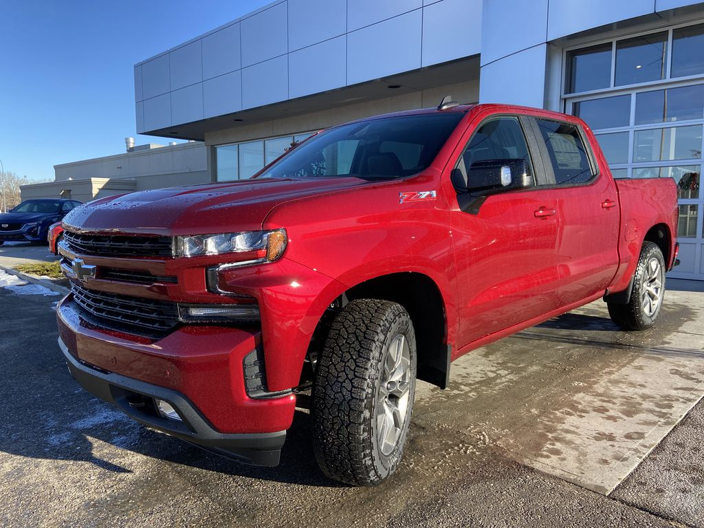Red[Cherry Red Tintcoat] 2021 Chevrolet Silverado 1500 RST Left Front Head Light / Bumper and Grill in Calgary AB
