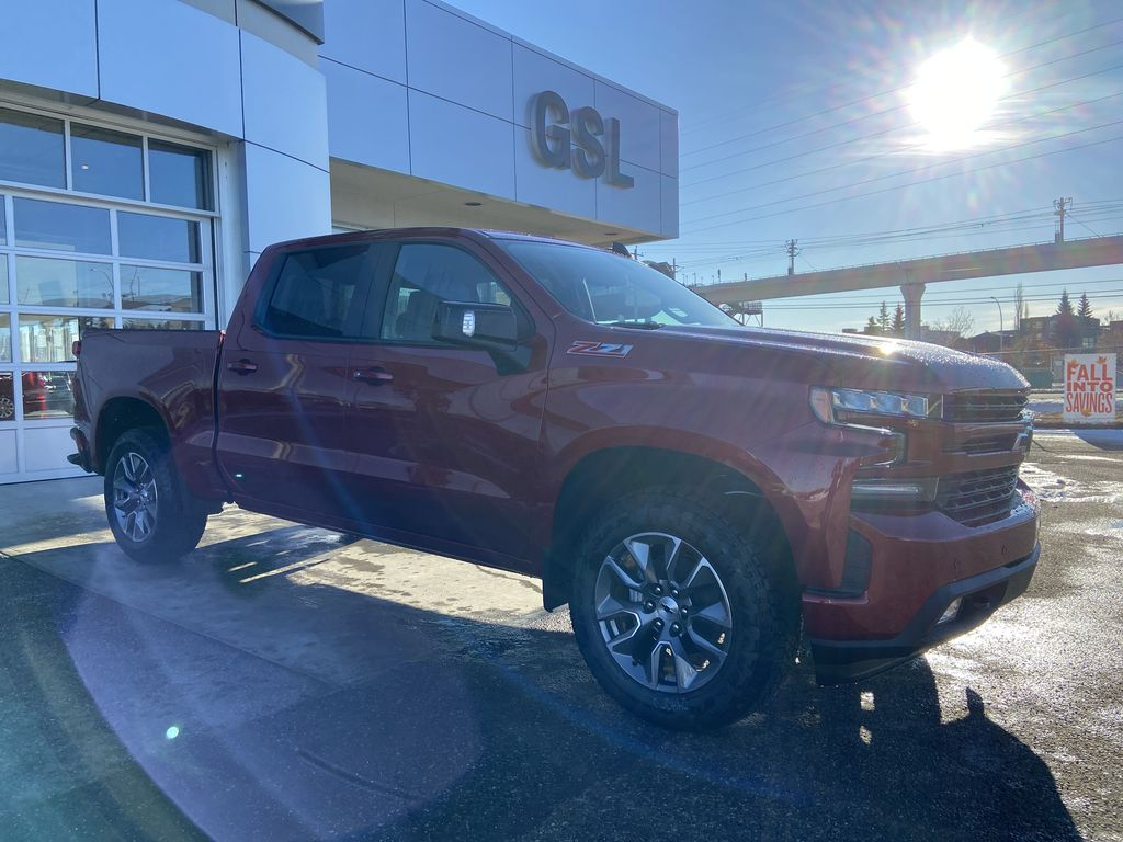 Red[Cherry Red Tintcoat] 2021 Chevrolet Silverado 1500 RST Right Front Corner Photo in Calgary AB