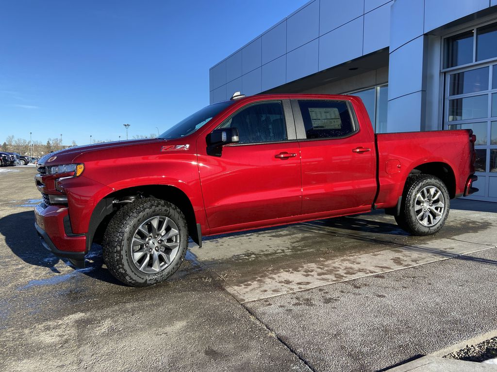 Red[Cherry Red Tintcoat] 2021 Chevrolet Silverado 1500 RST Left Front Corner Photo in Calgary AB