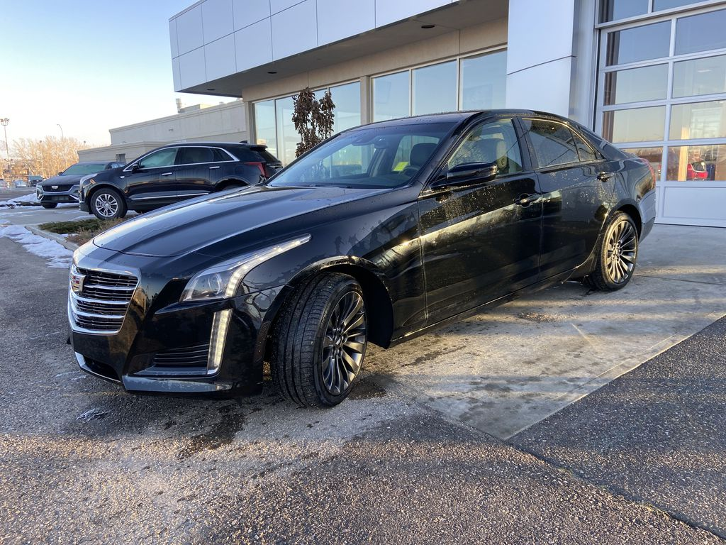 Black[Black Raven] 2016 Cadillac CTS Sedan Luxury Midnight Edition Left Front Head Light / Bumper and Grill in Calgary AB