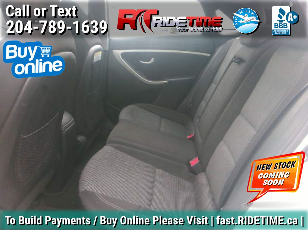 Silver[Shimmering Silver Metallic] 2013 Hyundai Elantra GT  GLS - AUTO, Panoramic Roof, Bluetooth Left Side Rear Seat  Photo in Winnipeg MB