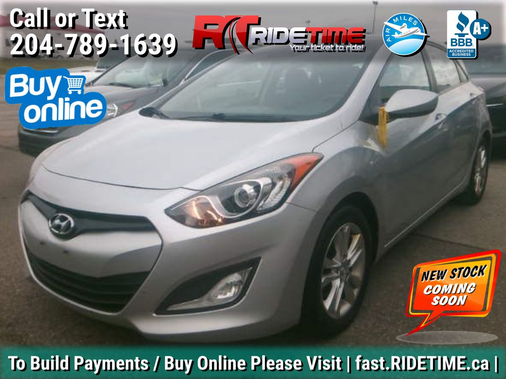 Silver[Shimmering Silver Metallic] 2013 Hyundai Elantra GT  GLS - AUTO, Panoramic Roof, Bluetooth