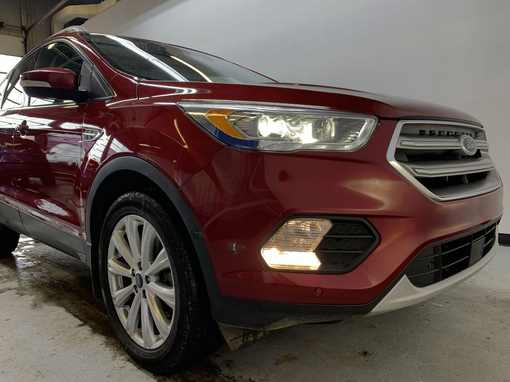 RED 2017 Ford Escape Titanium - Bluetooth, Backup Cam, NAV Right Front Corner Photo in Edmonton AB