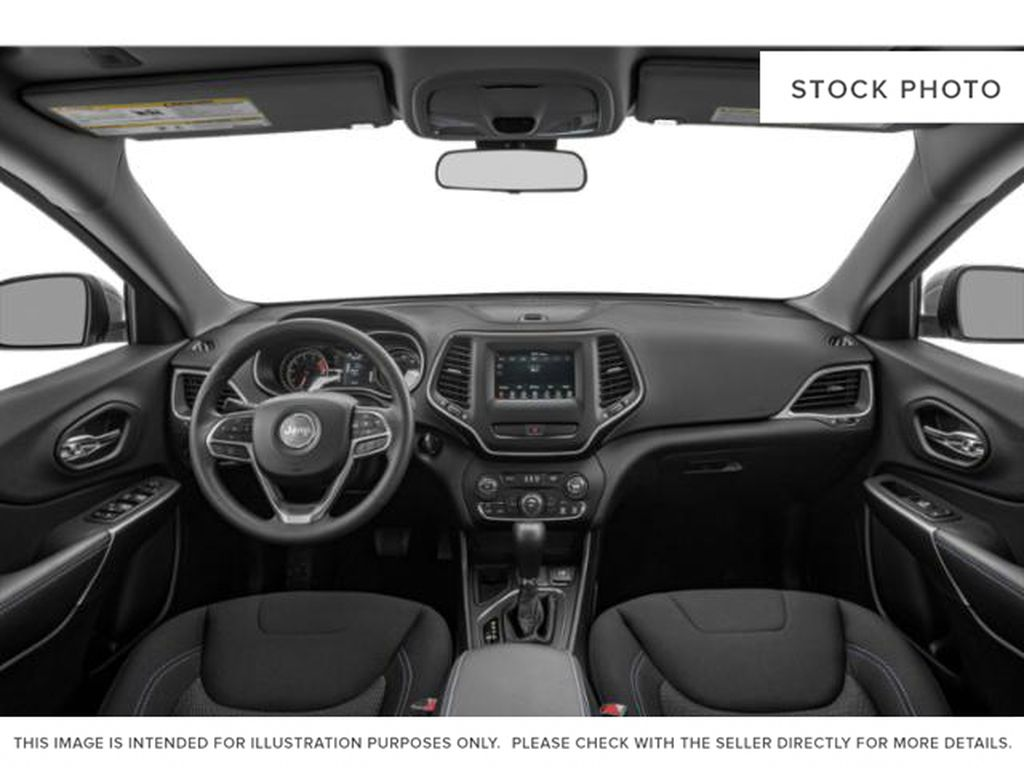 White[Bright White] 2021 Jeep Cherokee Strng Wheel/Dash Photo: Frm Rear in Yarmouth NS