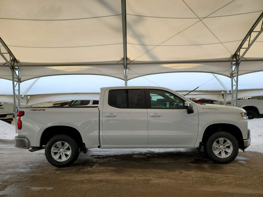 White 2021 Chevrolet Silverado 1500 Rear of Vehicle Photo in Airdrie AB