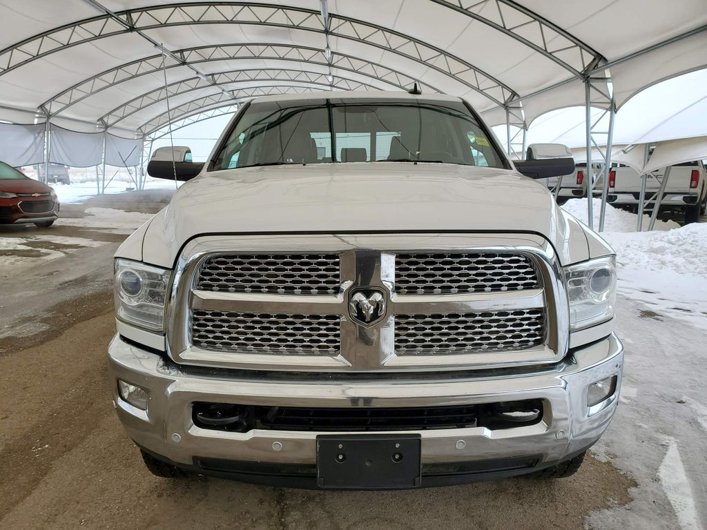 White 2018 Ram 3500 Left Front Corner Photo in Airdrie AB