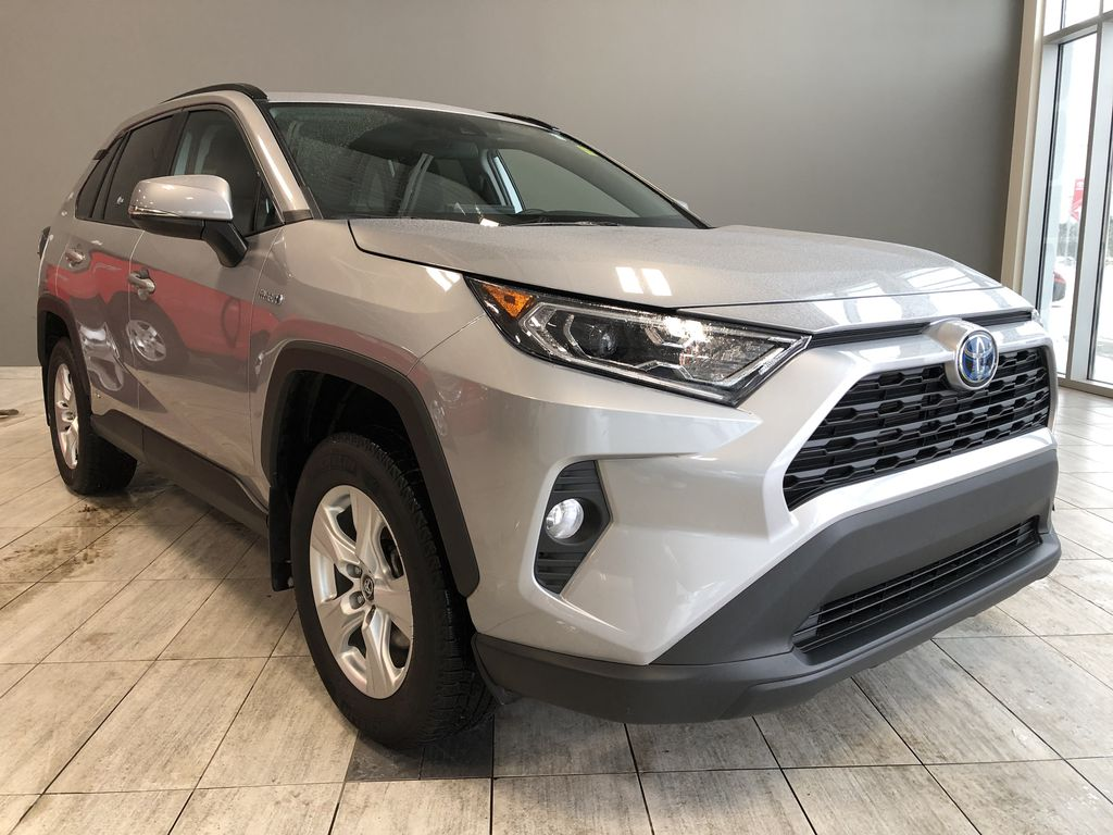 Silver 2020 Toyota RAV4 Hybrid XLE   Extended Warranty Included Left Front Interior Photo in Edmonton AB