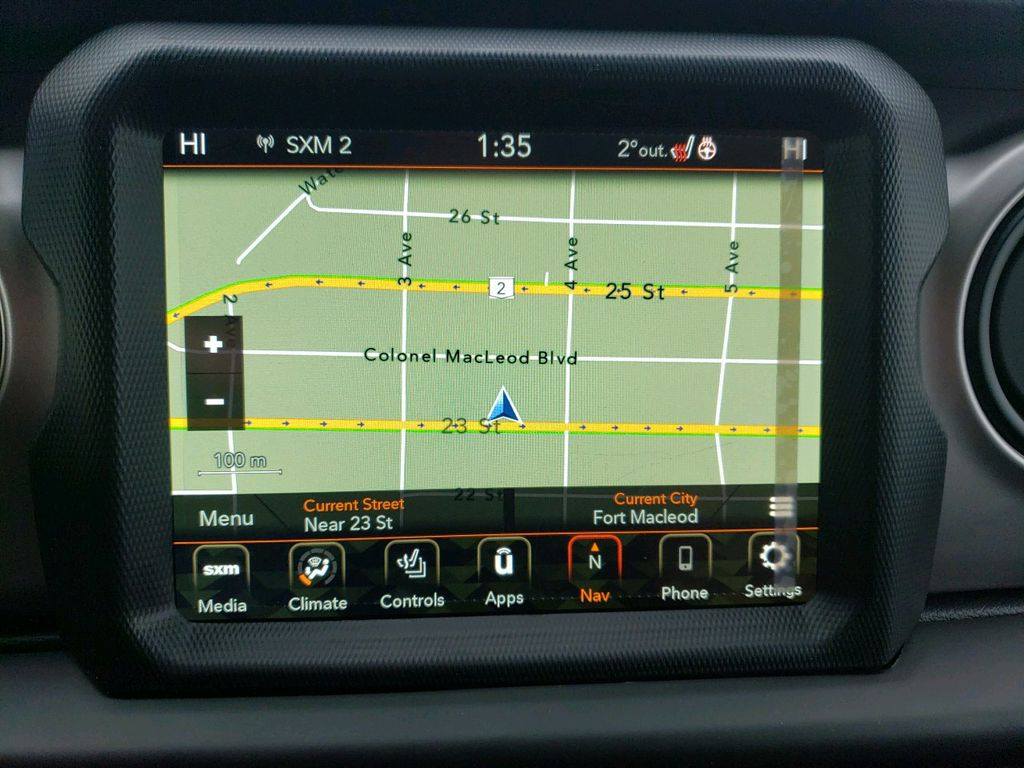 Black 2021 Jeep Wrangler Central Dash Options Photo in Fort Macleod AB