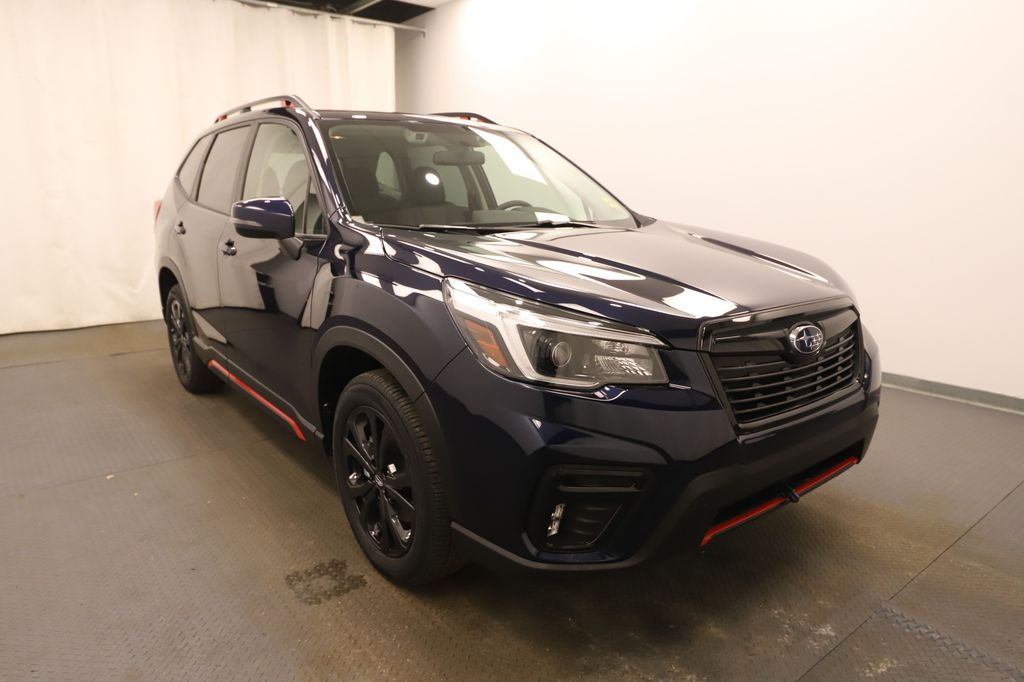 Dark Blue 2021 Subaru Forester Left Front Head Light / Bumper and Grill in Lethbridge AB