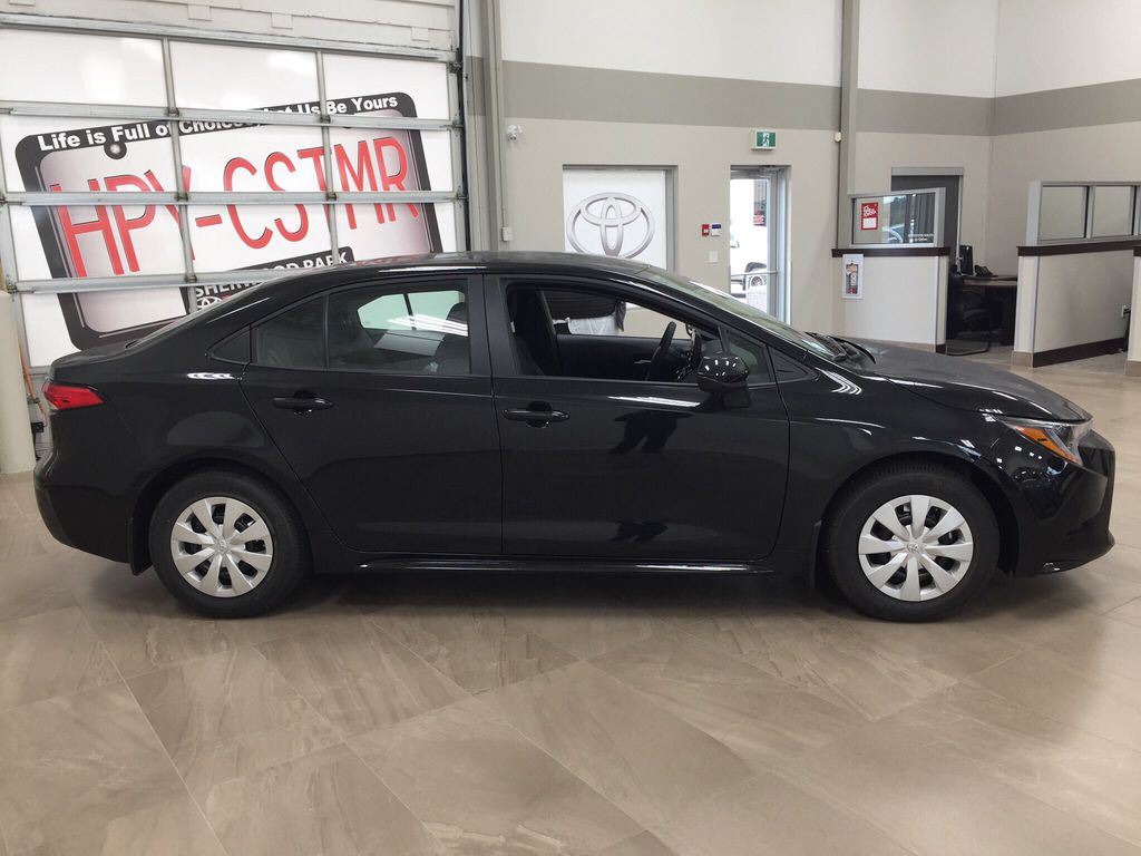 Black[Black Sand Pearl] 2021 Toyota Corolla L Right Side Photo in Sherwood Park AB