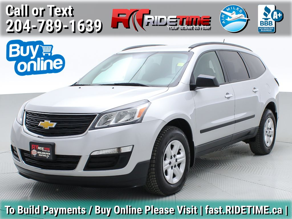 Silver[Silver Ice Metallic] 2014 Chevrolet Traverse LS AWD - 8 Passenger, Backup Camera, SiriusXM