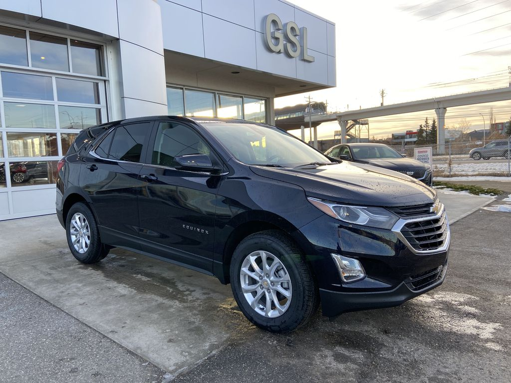 Blue[Midnight Blue Metallic] 2021 Chevrolet Equinox LT Right Side Front Seat  Photo in Calgary AB