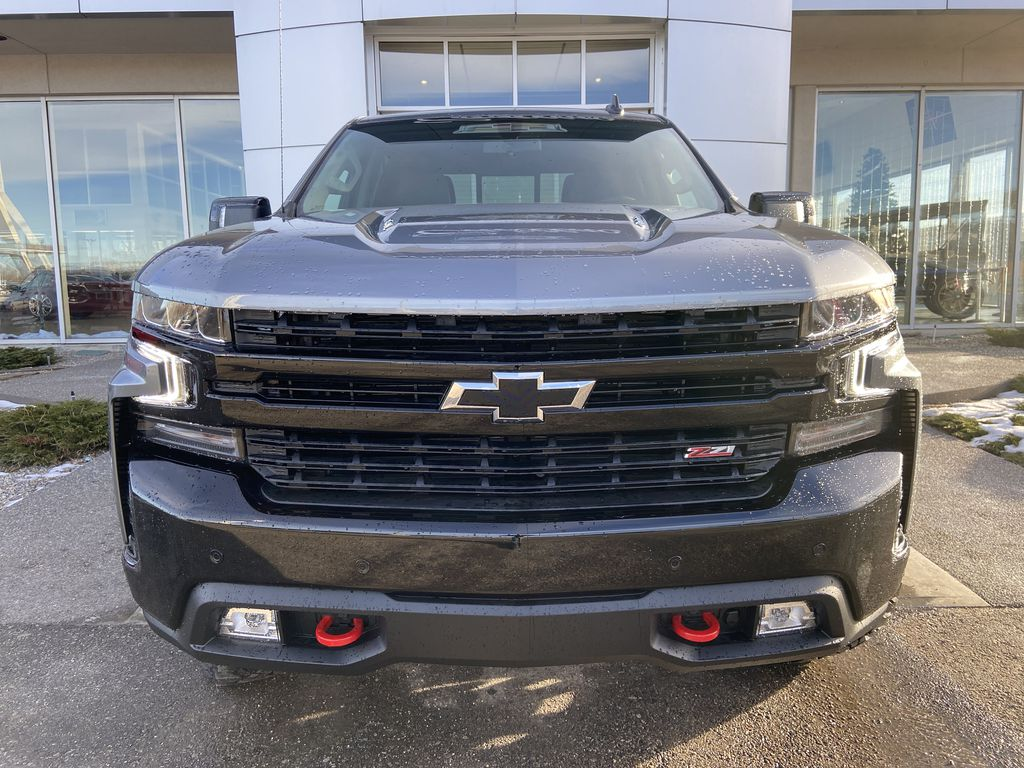 Gray[Satin Steel Metallic] 2021 Chevrolet Silverado 1500 LT Trail Boss Front Vehicle Photo in Calgary AB