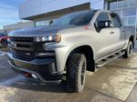 Gray[Satin Steel Metallic] 2021 Chevrolet Silverado 1500 LT Trail Boss Left Front Head Light / Bumper and Grill in Calgary AB