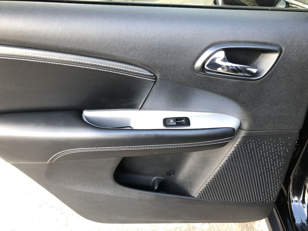 Black[Pitch Black] 2015 Dodge Journey R/T Left Rear Interior Door Panel Photo in Canmore AB
