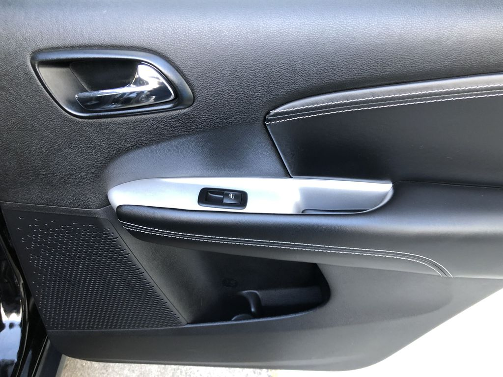 Black[Pitch Black] 2015 Dodge Journey R/T Right Rear Interior Door Panel Photo in Canmore AB