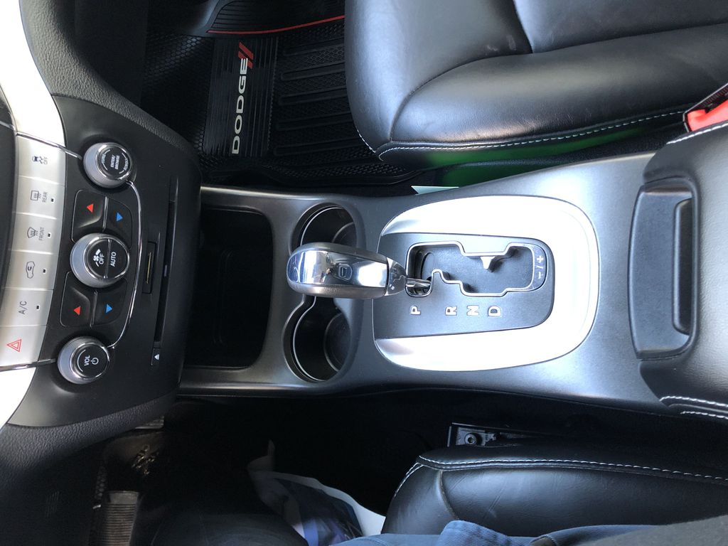 Black[Pitch Black] 2015 Dodge Journey R/T Center Console Photo in Canmore AB