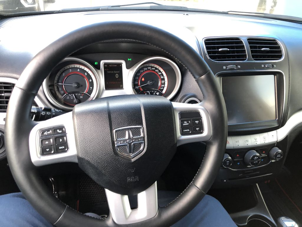 Black[Pitch Black] 2015 Dodge Journey R/T Steering Wheel and Dash Photo in Canmore AB