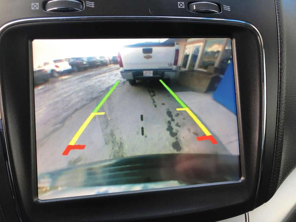 Black[Pitch Black] 2015 Dodge Journey R/T Backup Camera Closeup Photo in Canmore AB