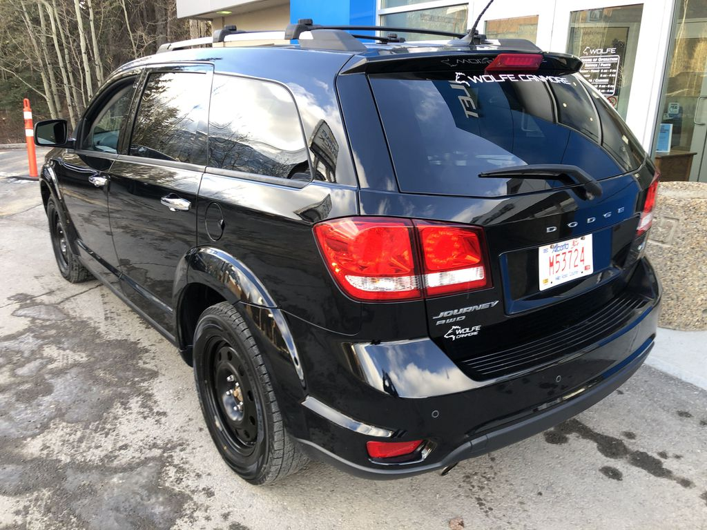 Black[Pitch Black] 2015 Dodge Journey R/T Left Rear Corner Photo in Canmore AB